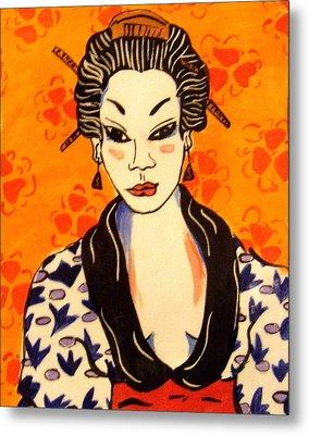 Geisha No. 1 Metal Print by Patricia Lazar