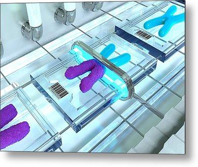 Gene Therapy, Conceptual Image Metal Print by David Mack