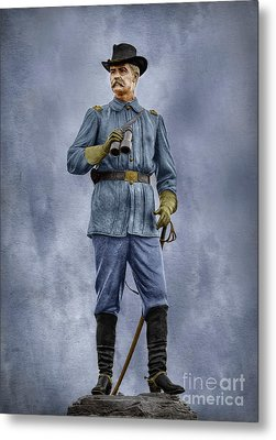 General John Buford At Gettysburg Metal Print by Randy Steele