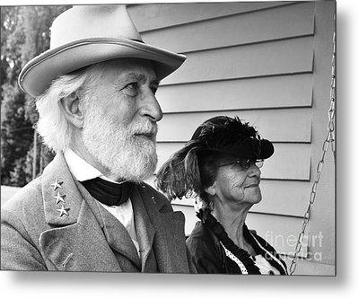 General Lee And Mary Custis Lee Metal Print by Thomas R Fletcher