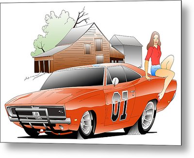 General Lee Digital Metal Print by Lyle Brown