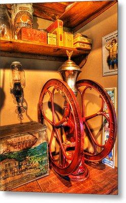 General Store Coffee Mill - Nostalgia - Vintage Metal Print by Lee Dos Santos