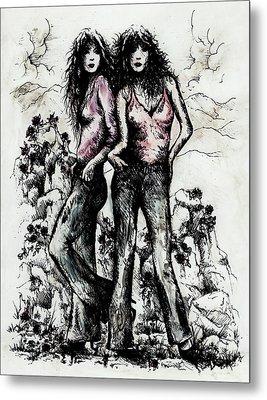 Genes And Roses Metal Print by Rachel Christine Nowicki