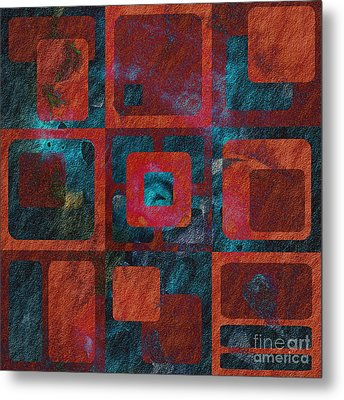 Geomix 02 - Sp07c03b Metal Print by Variance Collections