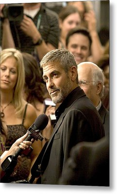 George Clooney At Arrivals For Michael Metal Print by Everett
