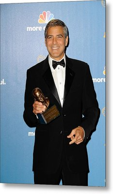George Clooney Wearing Giorgio Armani Metal Print by Everett