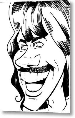George Harrison Metal Print by Big Mike Roate