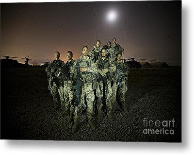 German Army Crew Poses Metal Print by Terry Moore