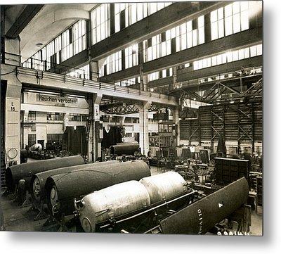 German Rocket Factory, 1943 Metal Print by Detlev Van Ravenswaay