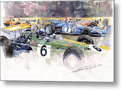 Germany Gp Nurburgring 1969 Metal Print by Yuriy  Shevchuk