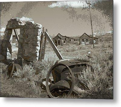 Ghost Town Series 3 Metal Print by Philip Tolok