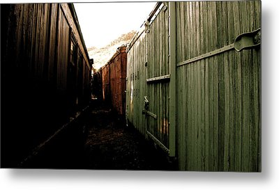 Ghost Train Yard Metal Print by Travis Burns