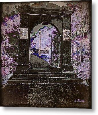 Ghostly Garden Metal Print by Leslie Revels Andrews