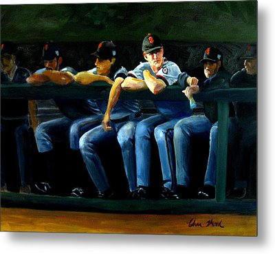 Giants Dugout Metal Print by Char Wood