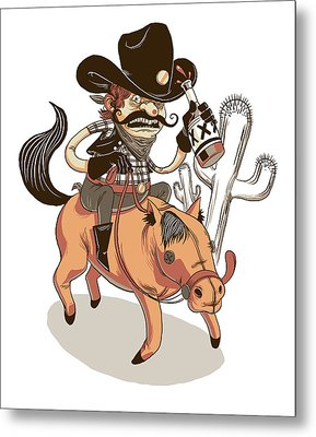 Giddy Up Metal Print by Michael Myers