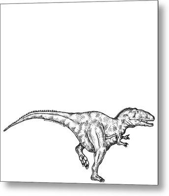 Gimpusaurus - Dinosaur Metal Print by Karl Addison