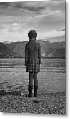 Girl At A Lake Metal Print by Joana Kruse