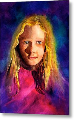 Girl On The Cover Metal Print by Frank SantAgata