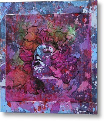Metal Print featuring the painting Giulia by Pasquale Di maso