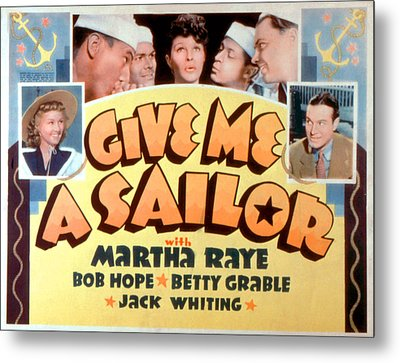 Give Me A Sailor, Betty Grable Left Metal Print by Everett
