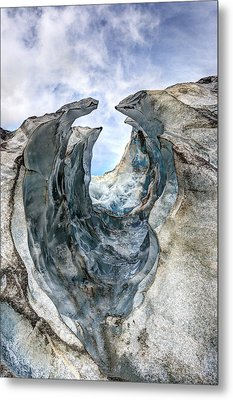 Glacier Impression Metal Print by Andreas Hartmann