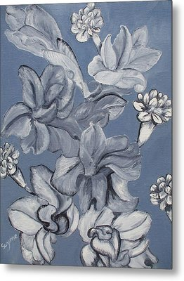 Gladiolas And Carnations Metal Print by Suzanne Buckland