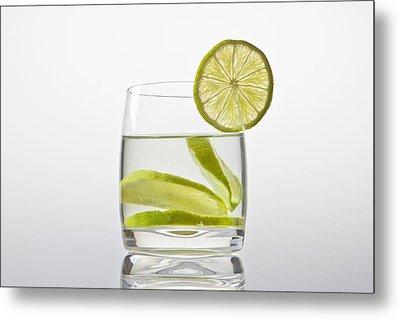 Glass With Lemonade Metal Print by Joana Kruse