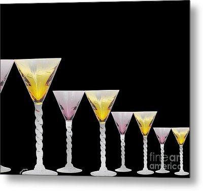 Glasses Metal Print by Cheryl Young
