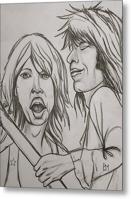 Glimmer Twins Metal Print by Pete Maier