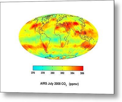 Global Carbon Dioxide Transport, 2008 Metal Print by Nasajpl