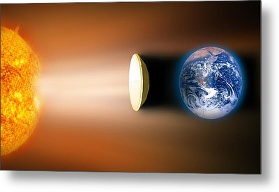 Global Warming Sun Shield, Artwork Metal Print by Victor De Schwanberg