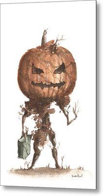 Goblin Tree Trick Or Treat Metal Print by Sean Seal