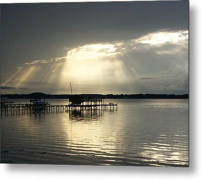 God Left The Light On For You Metal Print by Tiffney Heaning