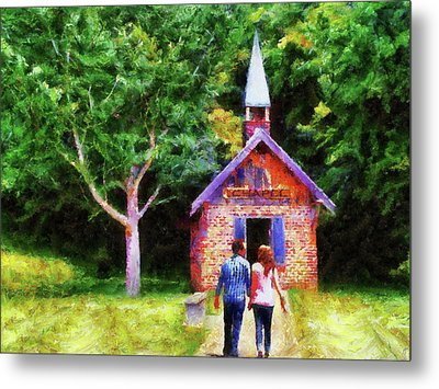 Going To The Chapel Metal Print by Jai Johnson
