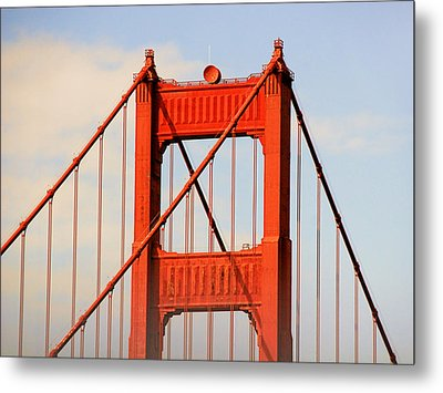 Golden Gate Bridge - Nothing Equals Its Majesty Metal Print by Christine Till
