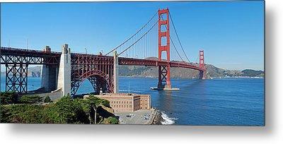 Golden Gate Bridge Panorama Metal Print by Twenty Two North Photography