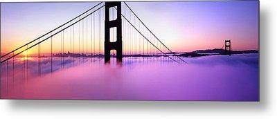 Golden Gate Sunrise Metal Print by Steve Munch