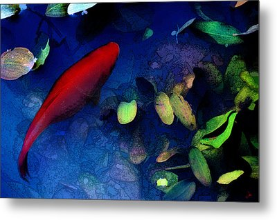 Goldfish Metal Print by Ron Jones