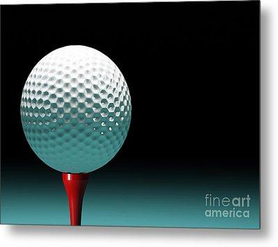 Golf Ball Metal Print by Gualtiero Boffi