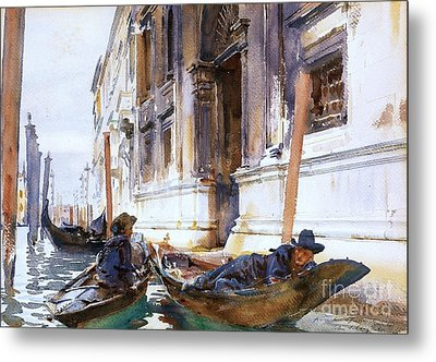 Gondoliers  Siesta Metal Print by Pg Reproductions