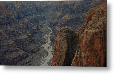Grand Canyon-aerial Perspective Metal Print by Douglas Barnard