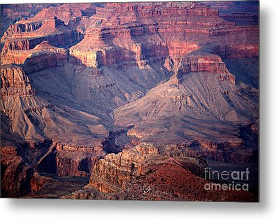 Grand Canyon Evening Interior Metal Print by Michael Kirsh