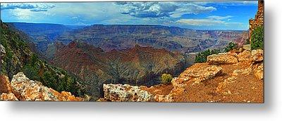Grand Canyon Panoramic View Metal Print by Gene Sherrill