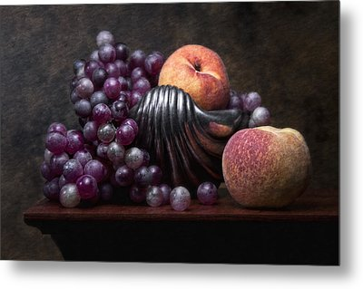 Grapes With Peaches Metal Print by Tom Mc Nemar
