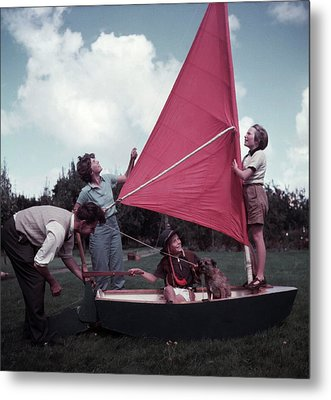 Grass Boat Metal Print by A. E. French/Archive Photos