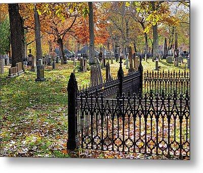 Gravestones Metal Print by Janice Drew