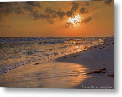 Grayton Beach Sunset 7 Metal Print by Charles Warren