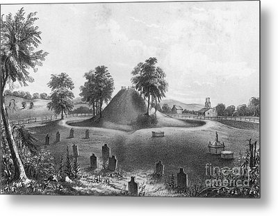 Great Mound At Marietta, 1848 Metal Print by Photo Researchers