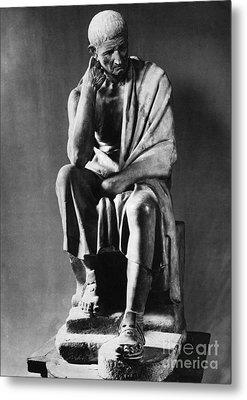 Greek Philosopher Metal Print by Photo Researchers