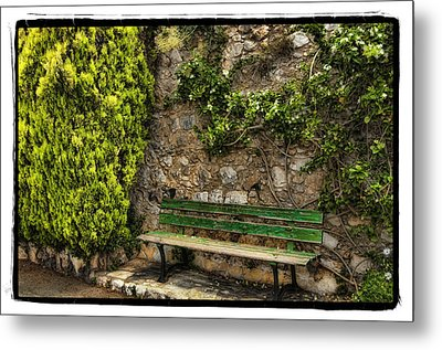 Green Bench Metal Print by Mauro Celotti